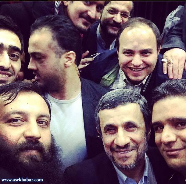 جدیدترین عکس احمدی نژاد از نوع سلفی (عکس)