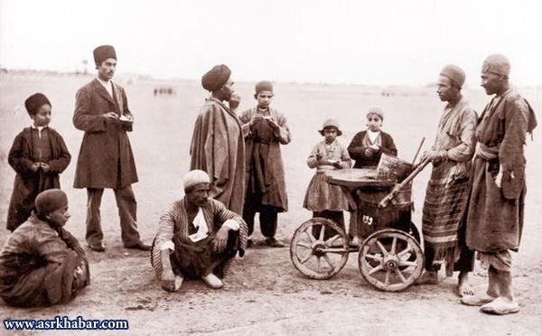 بستنی فروش قاجاری (عکس)