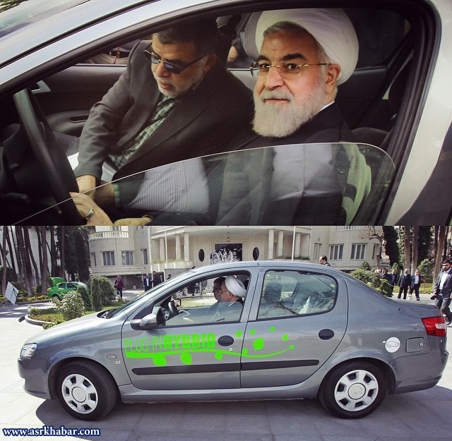 دو نما از حسن روحانی: رانندگی حسن روحانی (عکس