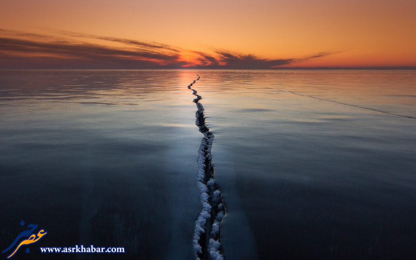 عکس دیدنی از دریایی که نصف شد (عکس)