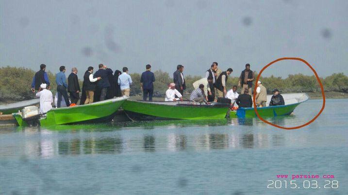 عکس/ قایق سواری امروز روحانی با لباس ورزشی در قشم