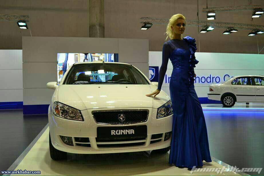 تصاویر جالب از بانوان در کنار محصولات ایران خودرو