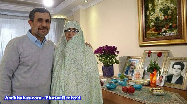 محمود احمدی نژادو همسرش