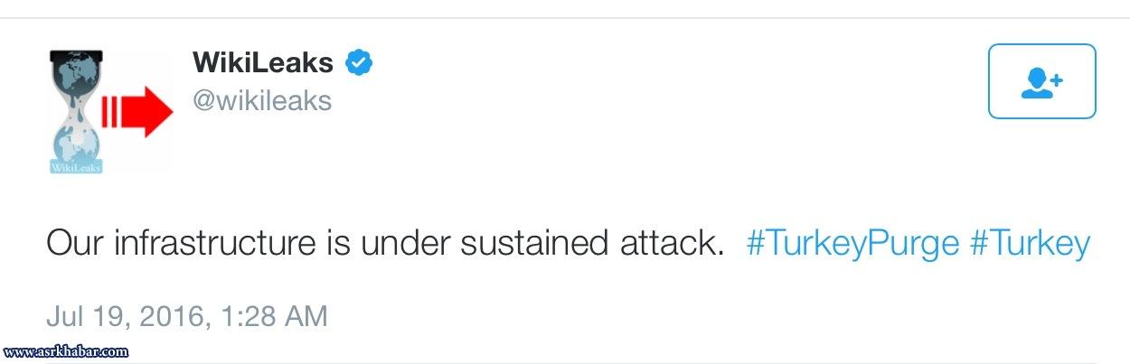 حمله به سايت ويكي ليكس از ترس انتشار اسناد عليه تركيه (+عكس)
