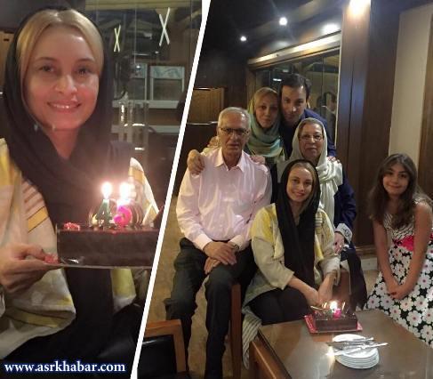 جشن تولد 45سالگی خانم بازیگر  مجرد کشورمان + عکس