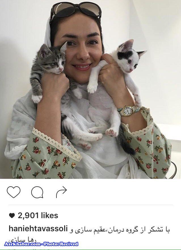 گربه هاي خانم بازيگر مشهور ايراني (عكس)