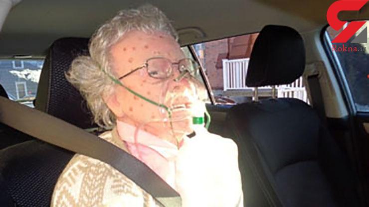 شکستن شیشه خودرو برای نجات زن یخزده +عکس