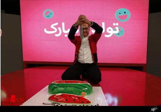 کیک تولد یلدایی رامبد جوان در «خندوانه» +عکس