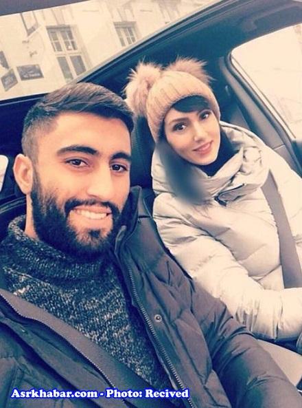 سلفی کاوه رضایی و همسرش فرنوش شیخی در بلژیک (+عکس)