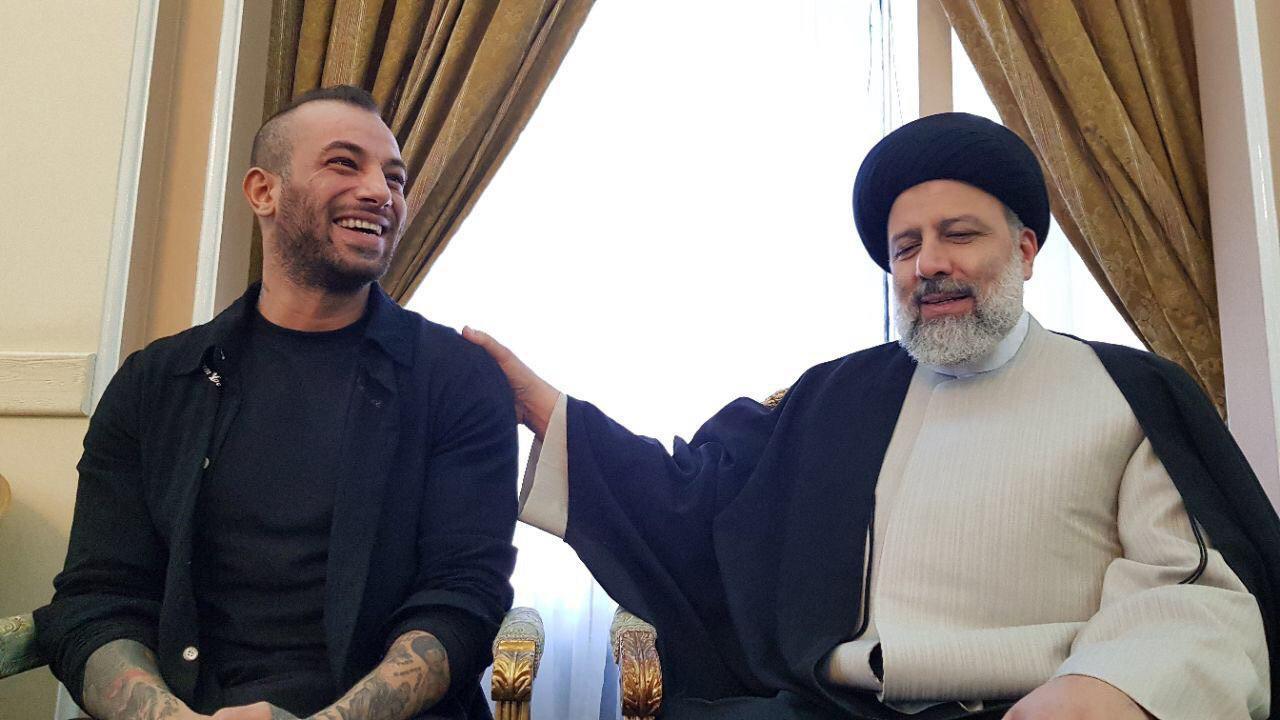 دیدار امیر تتلو با رییسی (عکس)