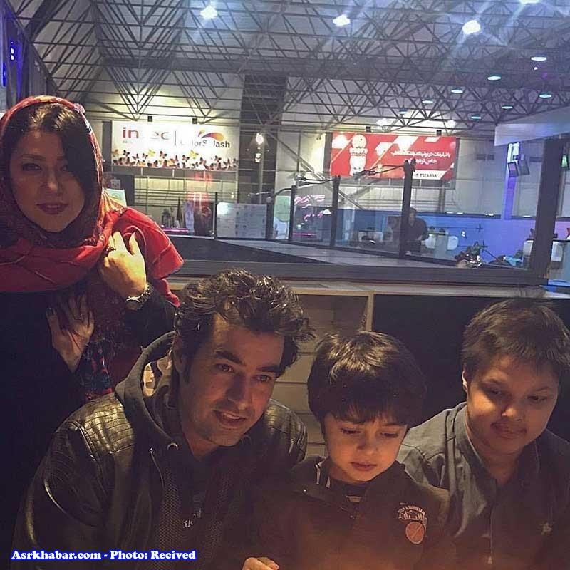 خوشگذرانی شهاب حسینی به همراه همسر و فرزندانش (+عکس)