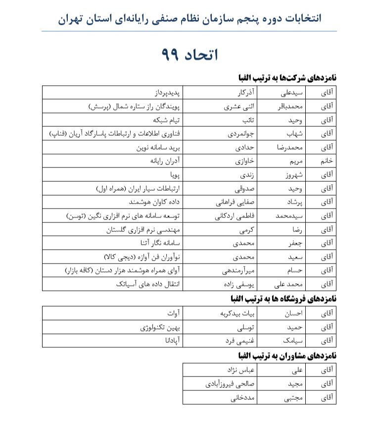 در نشستی با خبرنگاران تشریح شد/برنامه جامع اتحاد 99 برای توسعه سازمان نظام صنفی رایانهای تهران