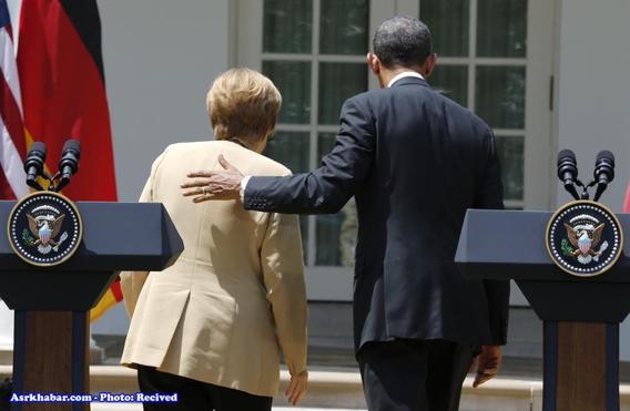 رابطه دوستانه اوباما و مرکل + تصاویر