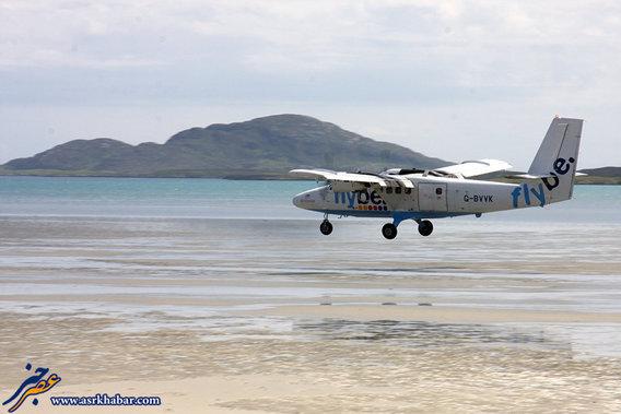 فرودگاه بارا واقع در جزیره باررا در جزایر غرب اسکاتلند